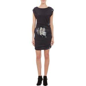IRO Prism Print Ruched Dress